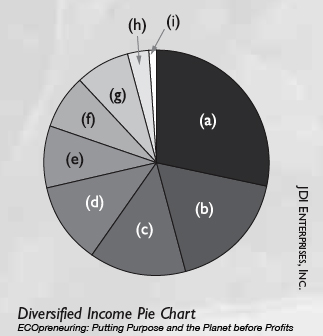 Diversified Income-producing Portfolio of Work, ECOpreneuring