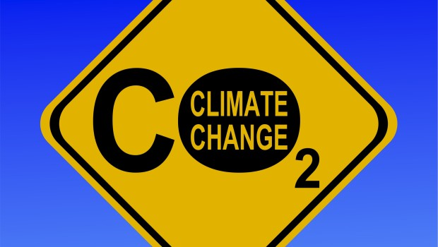 climate change warning sign