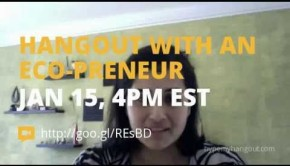 Hangout with an Eco-preneur – Becky Striepe on Google+, Tuesdays 4 pm EST