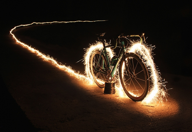 electric bike sparks