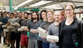 BioMason makes emissions free bricks