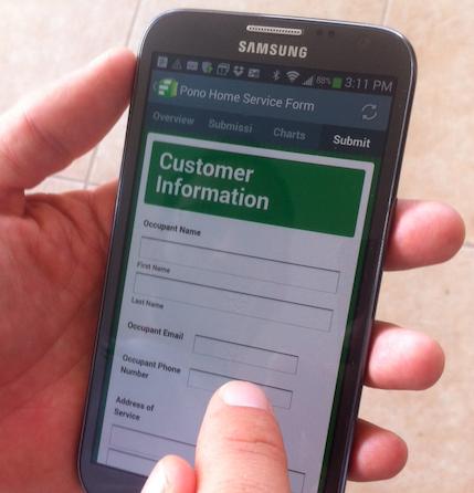 Mobile software for service technicians